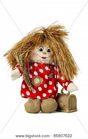 Fairy doll hobgoblin in shirt with polka dots