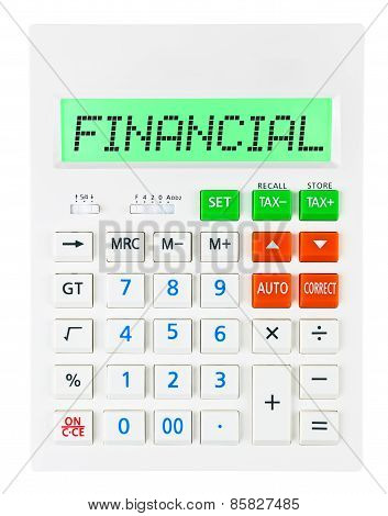 Calculator With Financial