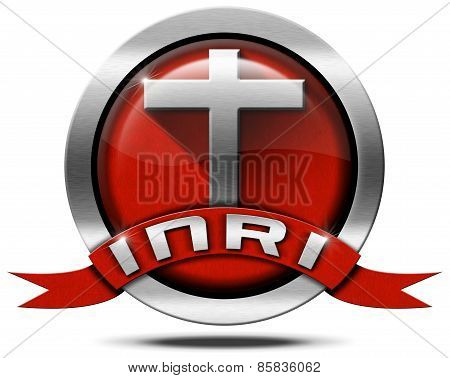 Inri - Redhead And Metal Icon With Cross