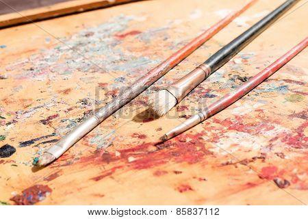 Three Old Paintbrushes