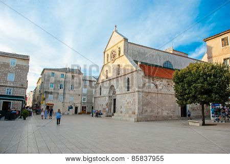 square with a church