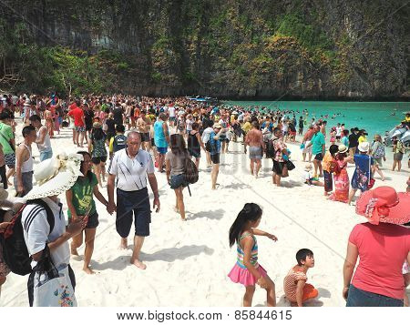 Mass Tourism On The Beach