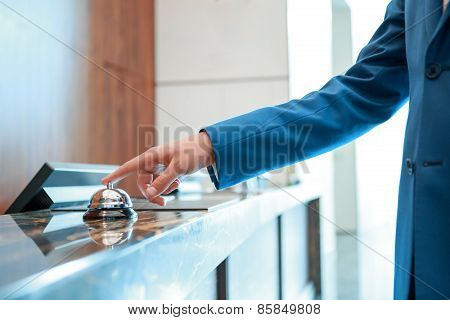 Hotel service bell at reception