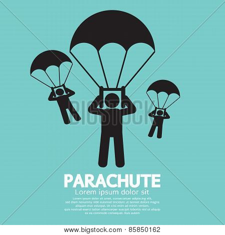 Parachutes Skydiving Sign.