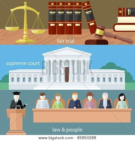 Fair trial. Supreme court. Law and people