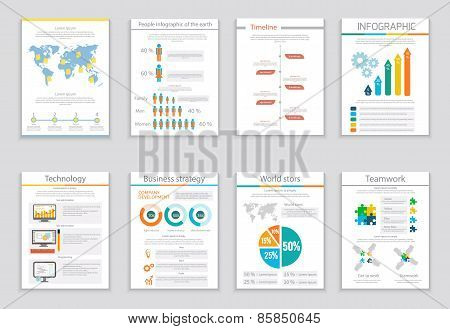 Infographic business brochures banners