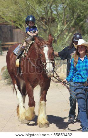 A Horse Ride At Old Tucson, Tucson, Arizona