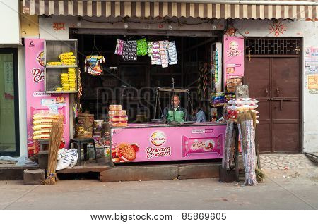 Indian Local Shop In Agra
