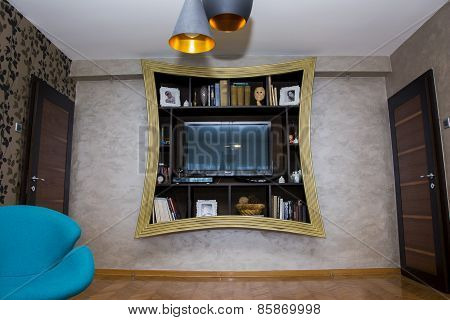Wall Shelf For Living Room Interior Design