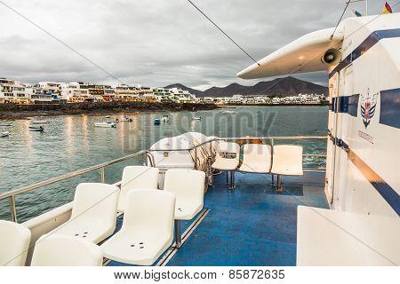 The Videocosta Ferries Operate Between Corallejo And Playa Blanca