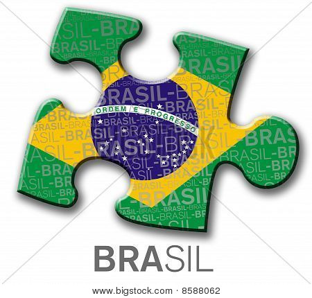 Brazilian button, with flag