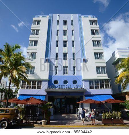 Art Deco Style Park Central in Miami Beach
