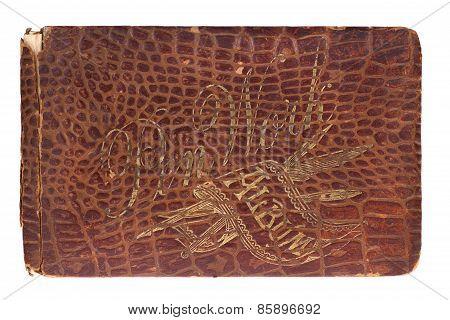 Old Autograph Leather Crocodile Book 1885