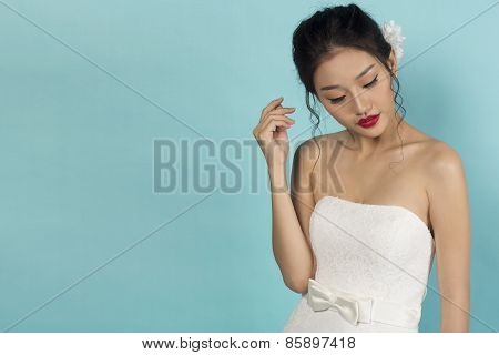 Asian Bride Studio Portrait
