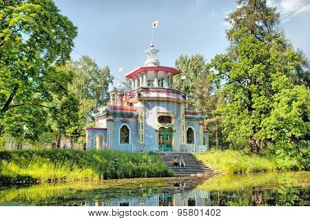 Tsarskoye Selo (Pushkin). Saint-Petersburg, Russia. The Creaking (Chinese) Summer-House