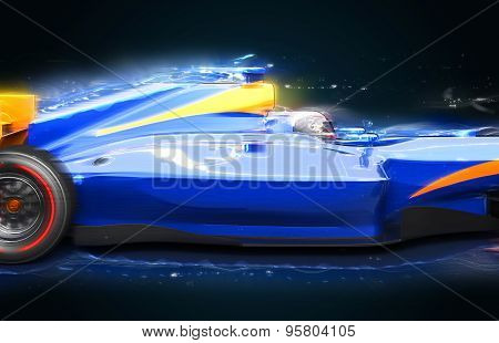 Sport Bolide With Light Effect