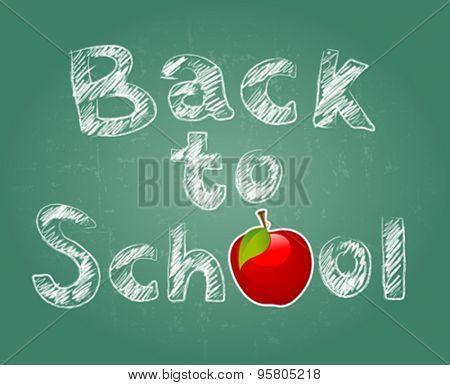 Back to school design of green class board