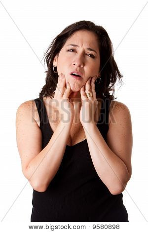 Woman With Dental Jaw Pain