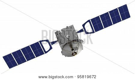 Satellite Over The White Background