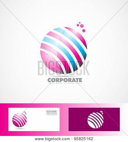 Sphere 3D Pink Blue Logo
