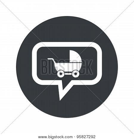 Round pram dialog icon