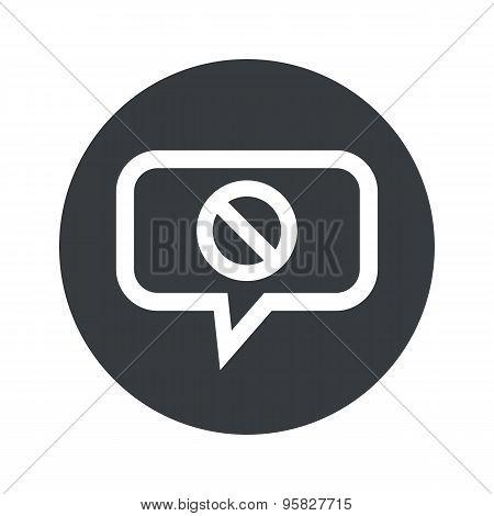 Round NO sign dialog icon