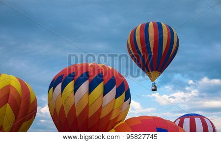 hot air balloons ready to take off
