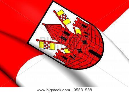 Flag Of Unna City, Germany.