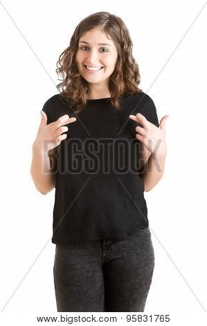 Woman Crossing Her Fingers