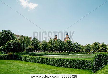 Hofgarten Park In Munich, Germany