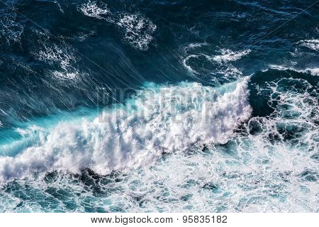 Beautiful Blue Ocean Waves