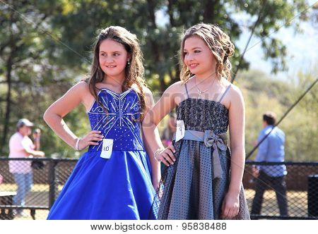 Teen Girl Beauty Pageant At Festival South Africa