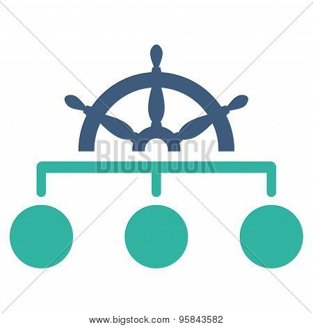 Rule icon from Business Bicolor Set