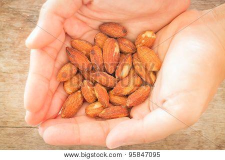 Almond Grain Roast On Hand