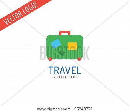 Bag vector logo icon logo. Sea, summer or holiday symbol. Stock design element.