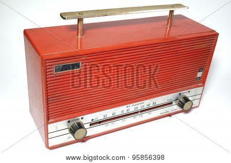 Retro radio receiver of the last century