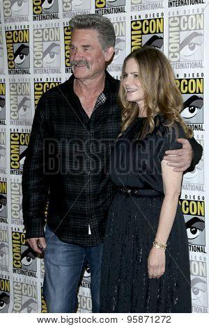 SAN DIEGO - JUL 11:  Kurt Russell, Jennifer Jason Leigh at the