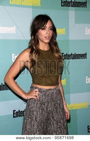 SAN DIEGO - JUL 11:  Chloe Bennet at the Entertainment Weekly's Annual Comic-Con Party at the Hard Rock Hotel on July 11, 2015 in San Diego, CA