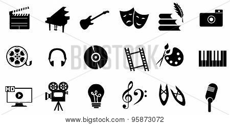 icons   arts black