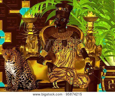 Black Egyptian princess in our modern digital art style