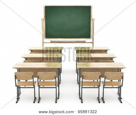 School Board And School Desks