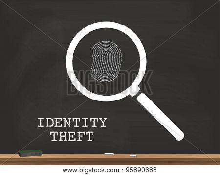 Identity Theft Chalkboard Illustration