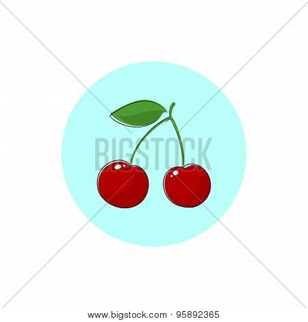 Icon Colorful Cherry