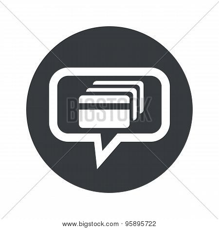 Round credit card dialog icon