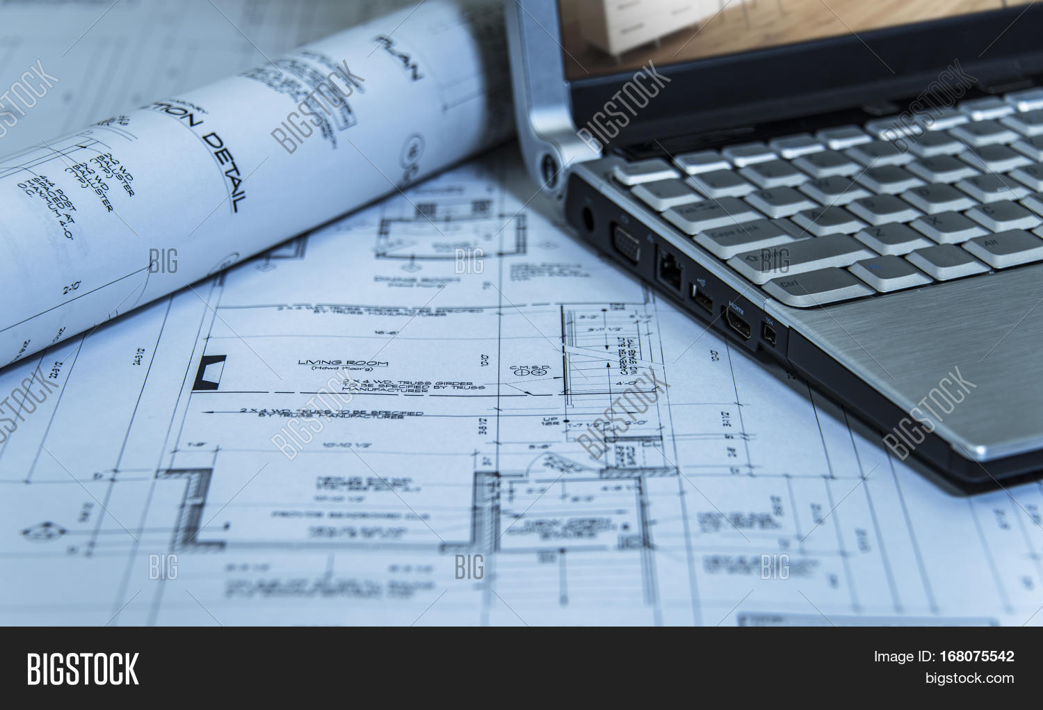 Architects Roll 2d Image Photo Free Trial Bigstock