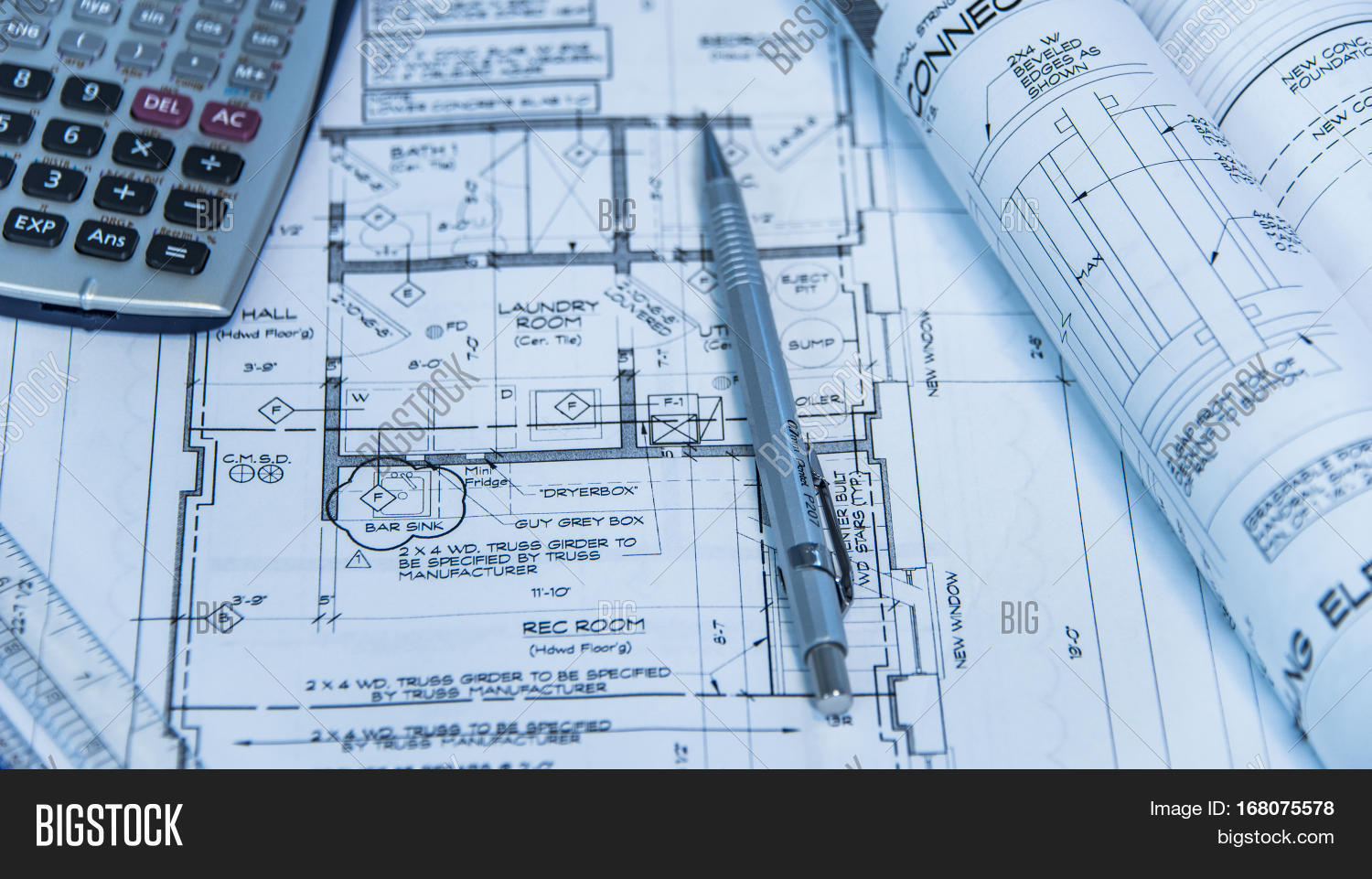 architecture blueprints. Interesting Architecture Architecture Blueprints And House Remodeling Plans On The Table  Technical Pencil Architectural Design In Architecture Blueprints E
