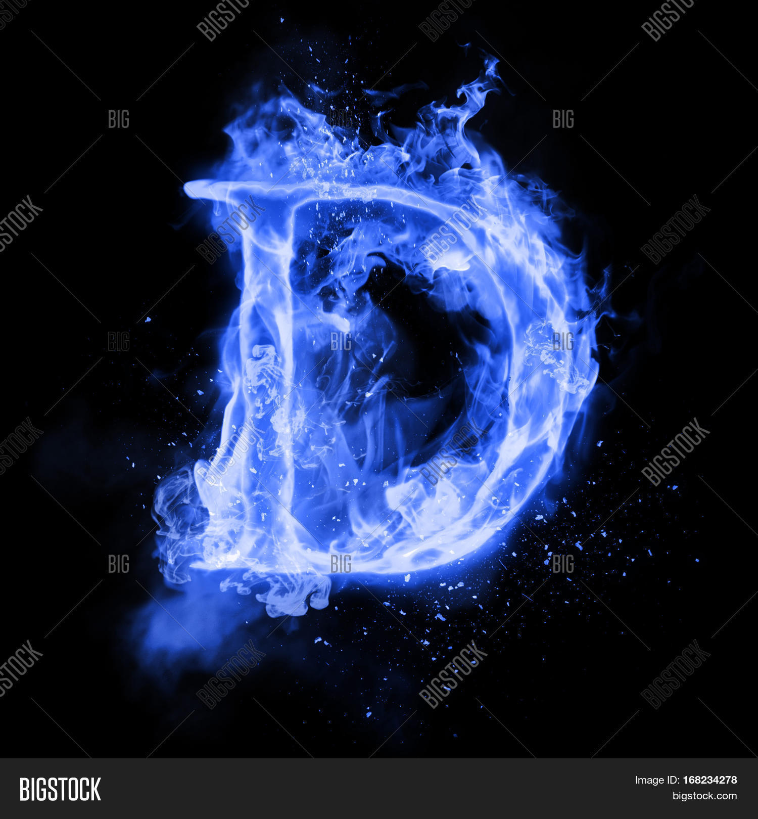 Fire Letter D Burning Image Photo Free Trial Bigstock