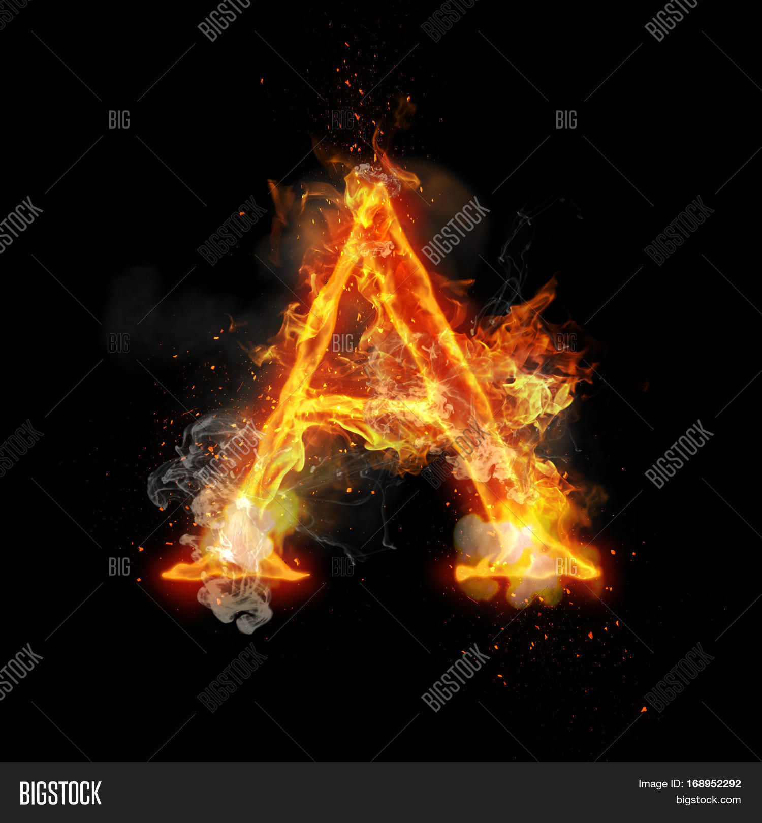 Fire Letter Burning Image & Photo (Free Trial) | Bigstock