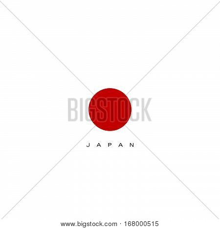 Japan Flag In Red Color Design Illustration