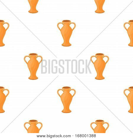 Amphora icon in cartoon style isolated on white background. Theater pattern vector illustration
